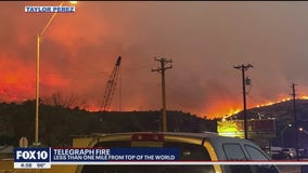 Telegraph Fire burns less than a mile from Top-of-the-World