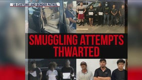 Yuma sector Border Patrol agents intercept 4 human smuggling attempts in one day