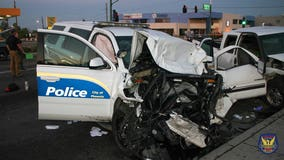 4 seriously injured, including 2 police officers, in North Phoenix crash