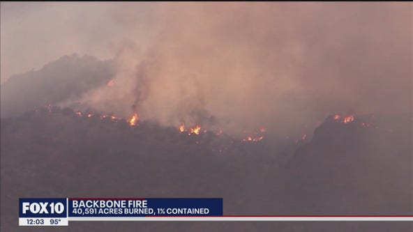 Backbone Fire grows to over 40K acres near Pine, Strawberry