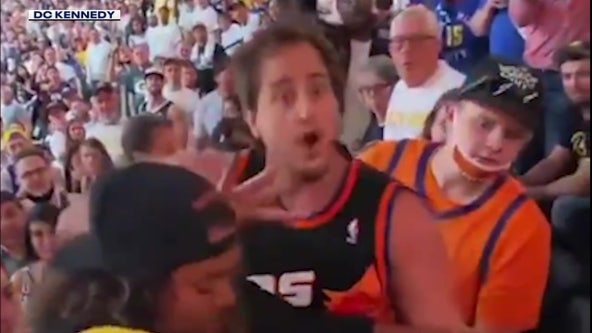 Phrase uttered during brawl between Suns and Nuggets fan goes viral