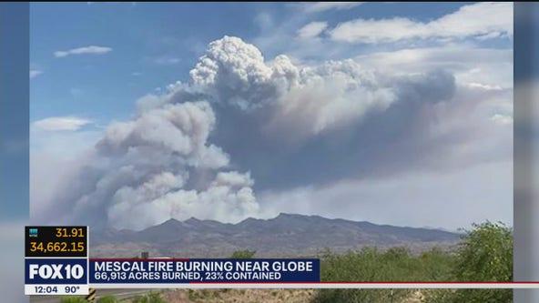 Mescal Fire burns over 66,000 acres near Globe