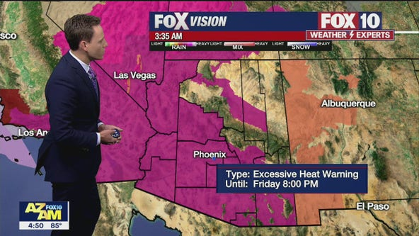NWS: Excessive Heat Warning issued for 13 Arizona counties