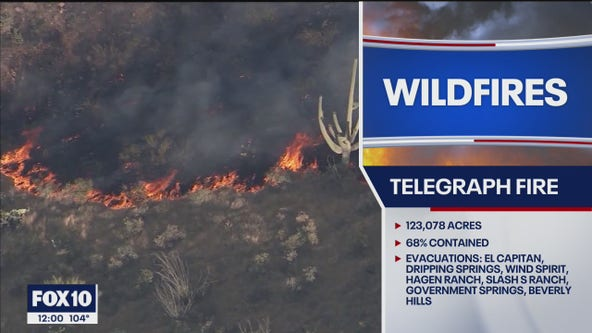 Telegraph Fire grows to over 123K acres
