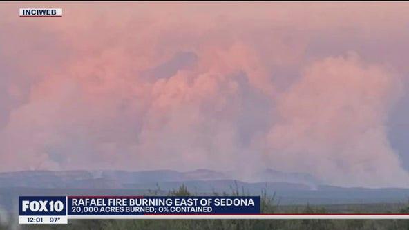 New evacuations ordered for Rafael Fire burning east of Sedona