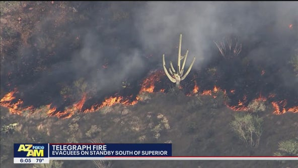 Evacuation orders in effect for Telegraph Fire in Pinal County