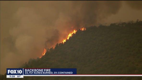 Backbone Fire grows to 32K acres