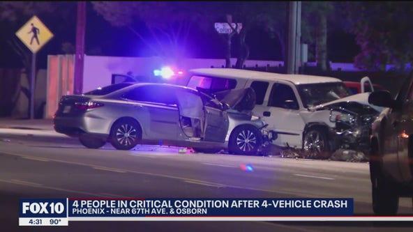 4 critically injured in west Phoenix crash