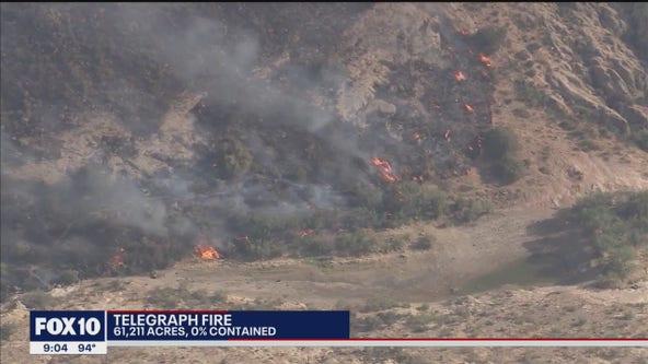 Telegraph Fire scorches 61,000 acres