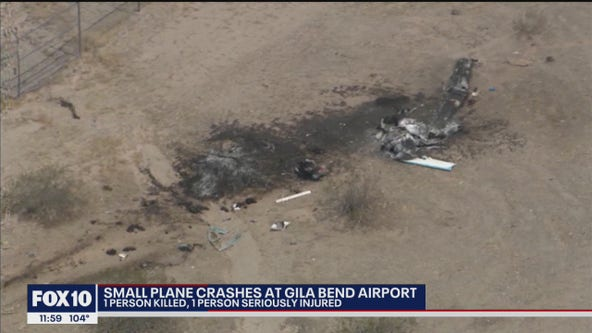 1 dead, 1 injured in plane crash near Gila Bend Airport