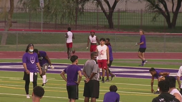 Phoenix officers, high schoolers connect in football tournament at Cesar Chavez High School