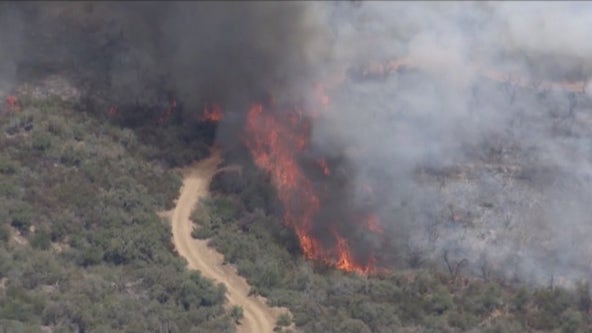 Crews dealing with extreme conditions at Telegraph Fire