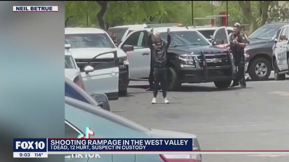 Shooting rampage in the West Valley leaves 1 dead, 12 injured