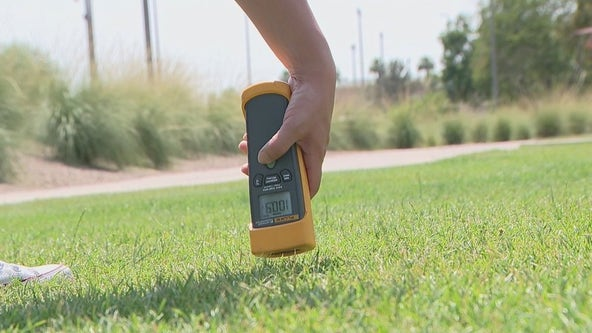Testing the temperatures of surfaces in Phoenix