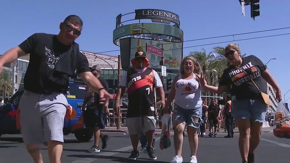 Fans cheer on as Suns win Game 1 of Western Conference Finals