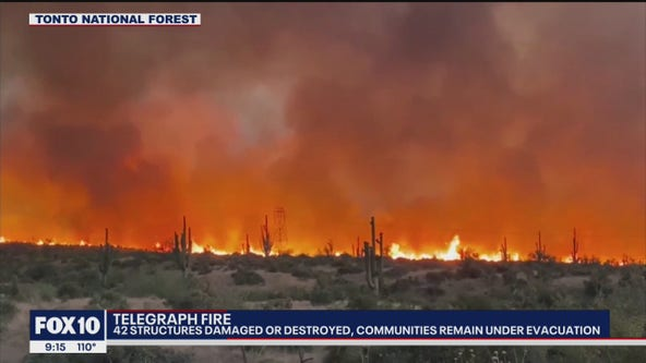 42 structures burned in massive Telegraph Fire