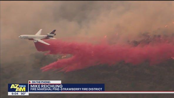 Backbone Fire near Strawberry grows to 32K acres