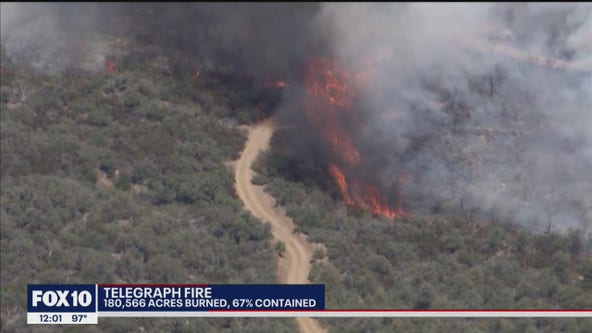 Some evacuations lifted for Telegraph Fire