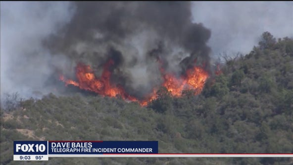 Telegraph Fire grows to over 148K acres, still 59% contained