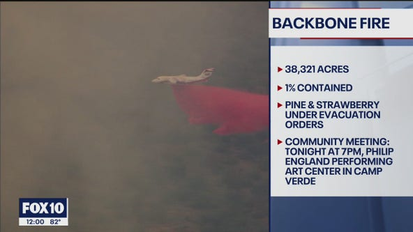 Backbone Fire grows to over 38K acres near Pine, Strawberry