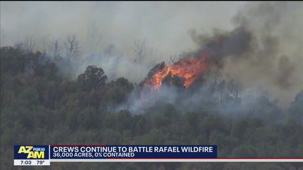 Rafael Fire grows to 36K acres in northern Arizona