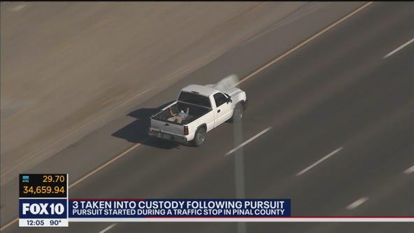 3 in custody following pursuit in Phoenix