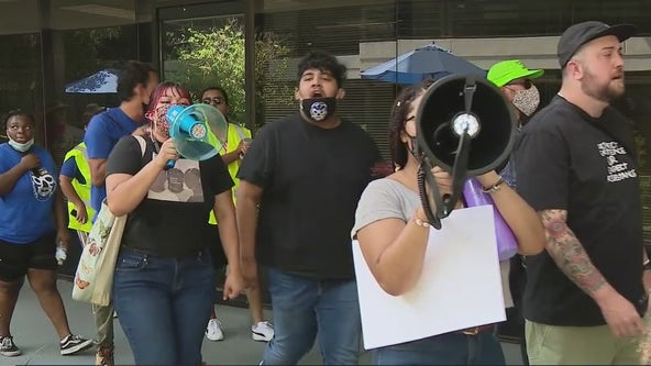 Arrest made during 'end the filibuster' rally outside Sen. Sinema's office in Phoenix