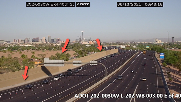 Loop 202 closed at State Route 143 for police investigation