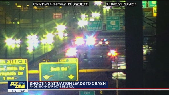 PD: Shooting leads to crash on I-17 in Phoenix