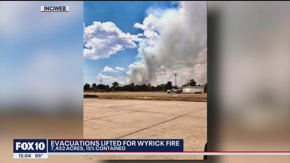 Evacuations lifted for Wyrick Fire burning near Heber