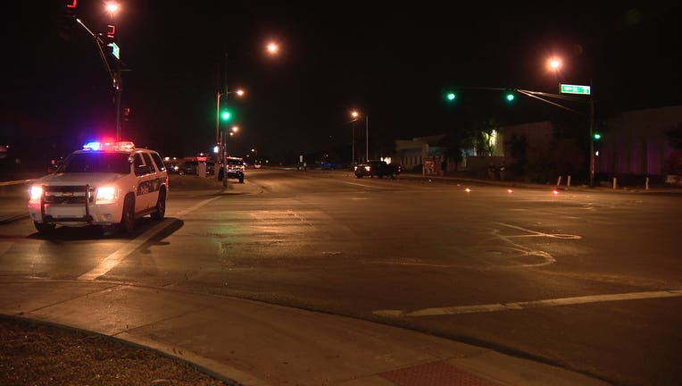 Scene of a hit-and-run on 16th Street and Broadway