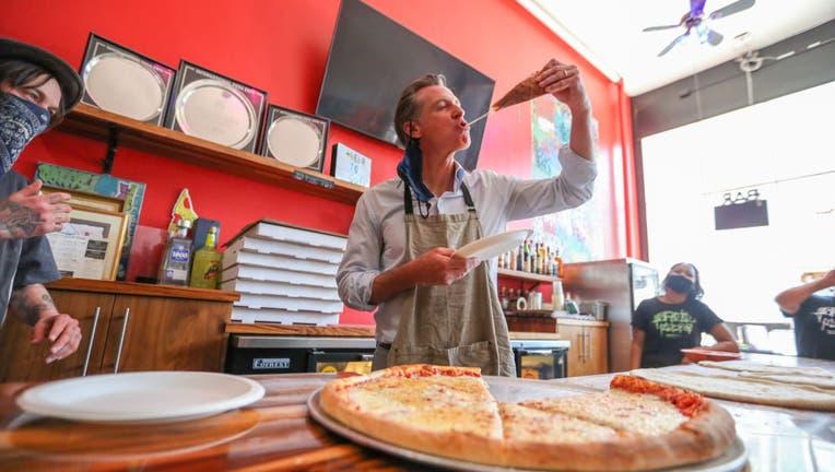 9c69fddf-California Governor Gavin Newsom visits small businesses