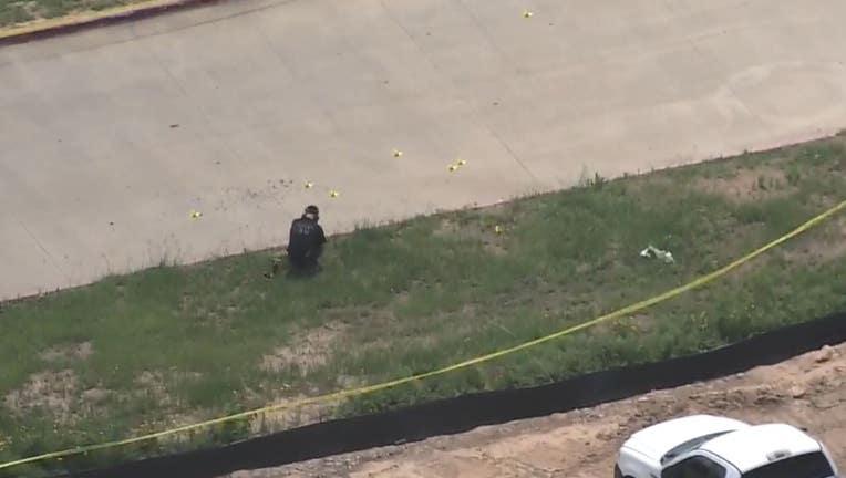 Officer involved shooting in Fulshear (Photo - SkyFox)