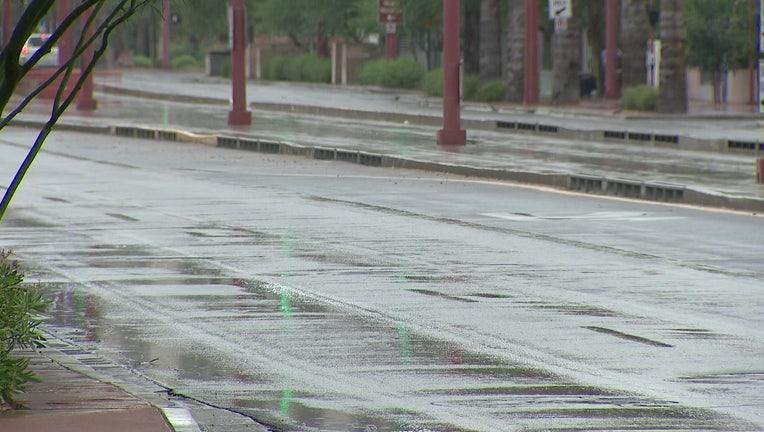 Rain in parts of Phoenix on June 23, 2021