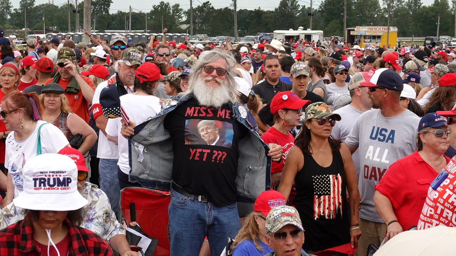 Donald Trump Rallies Supporters In Ohio For Congressional Candidate Max Miller
