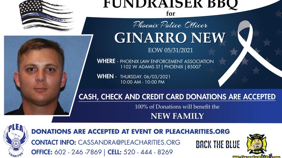 Fundraiser flyer for Ginnaro New's family