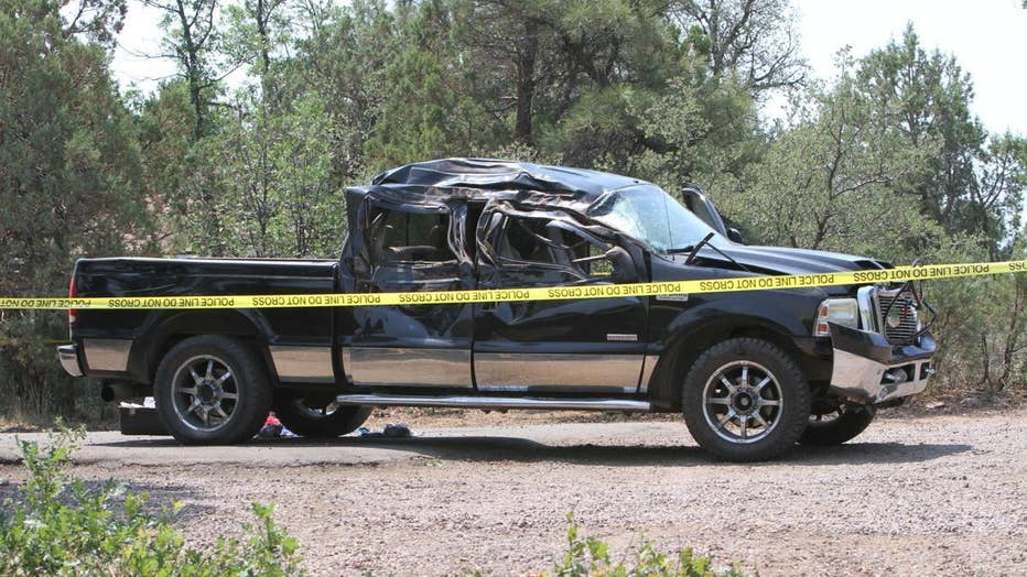 A photo of the truck involved