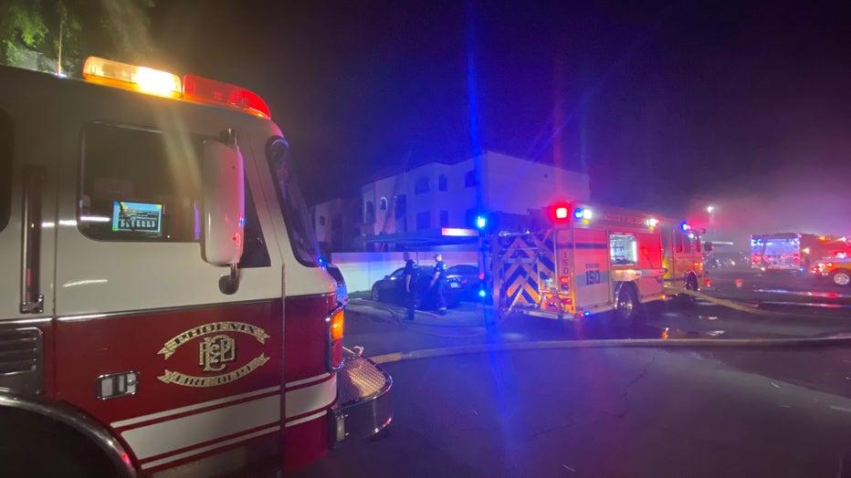 Glendale apartment fire june 26, 2021