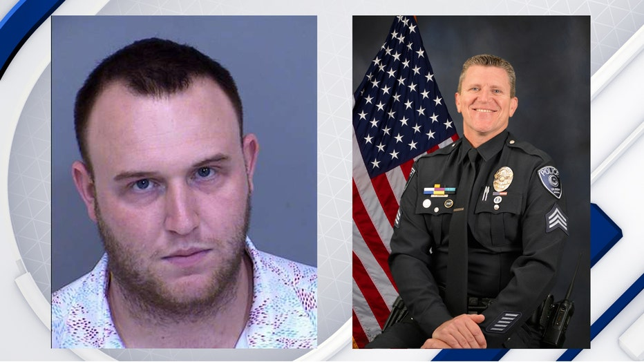 Colton Sattler was arrested for DUI after hitting Sgt. Edgerton on the Loop 101.