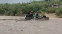 Shocking video: Group escapes floodwaters after car is washed away near Sycamore Creek