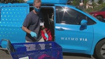 Vehicle delivery service provides food for seniors at Gilbert