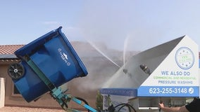Arizona company cleans trash cans in the West Valley