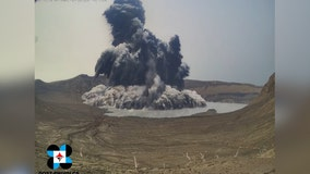 Video: Volcano erupts in Philippines, sends plume of ash into sky