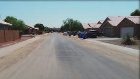 Weekend monsoon storm turned residential street in Maryvale into a river