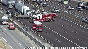 3 injured after 6-vehicle crash on I-10 near 67th Avenue in Phoenix