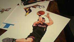Arizona man shows his love for the Phoenix Suns through his artwork