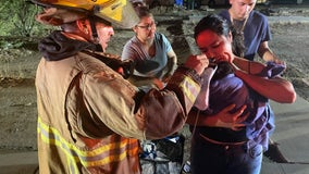 Five people displaced, puppy hurt after massive Phoenix house fire