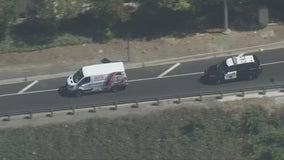 Man suspected of stealing van in custody after lengthy chase across LA County