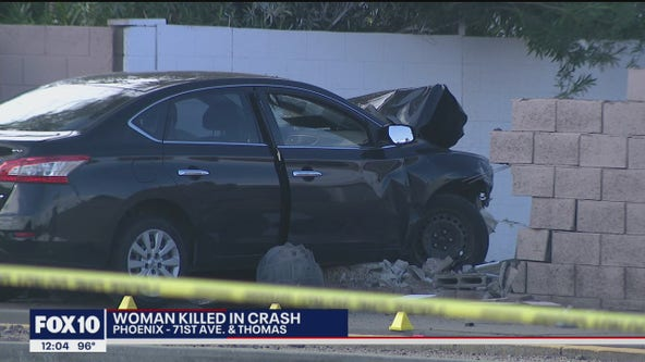 PD: Woman killed after rear-ending minivan at West Phoenix intersection