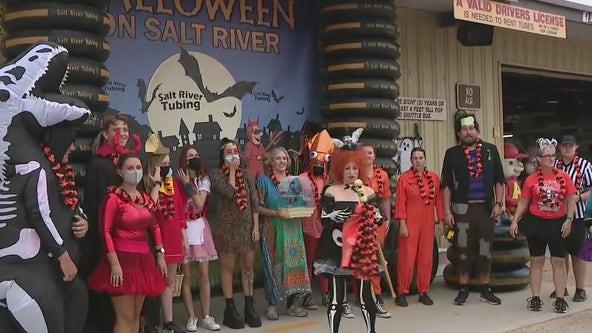 Halloween in July at Salt River Tubing